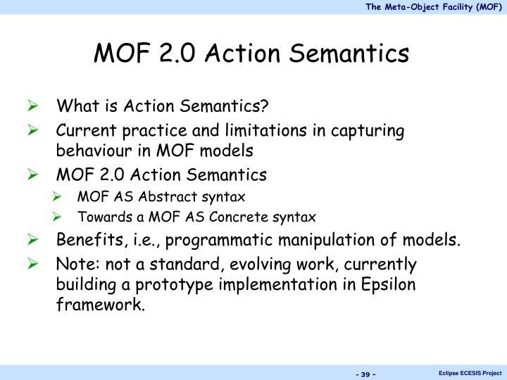 MOF 2.0 Action Semantics
