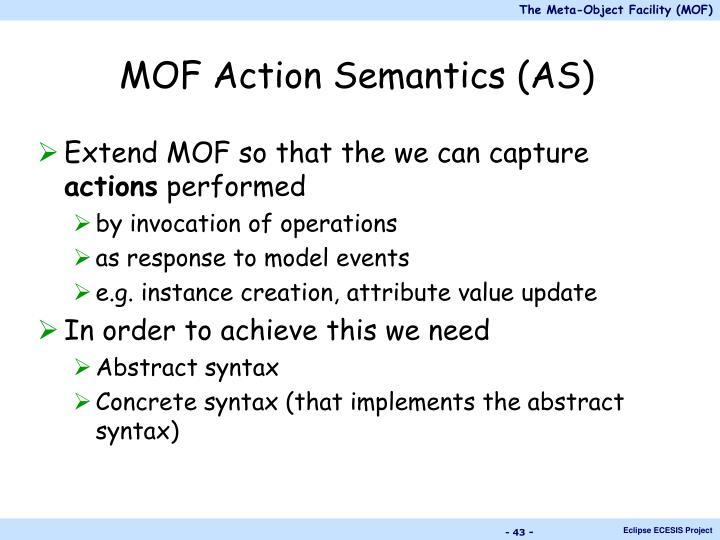 MOF Action Semantics (AS)