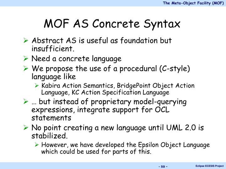 MOF AS Concrete Syntax