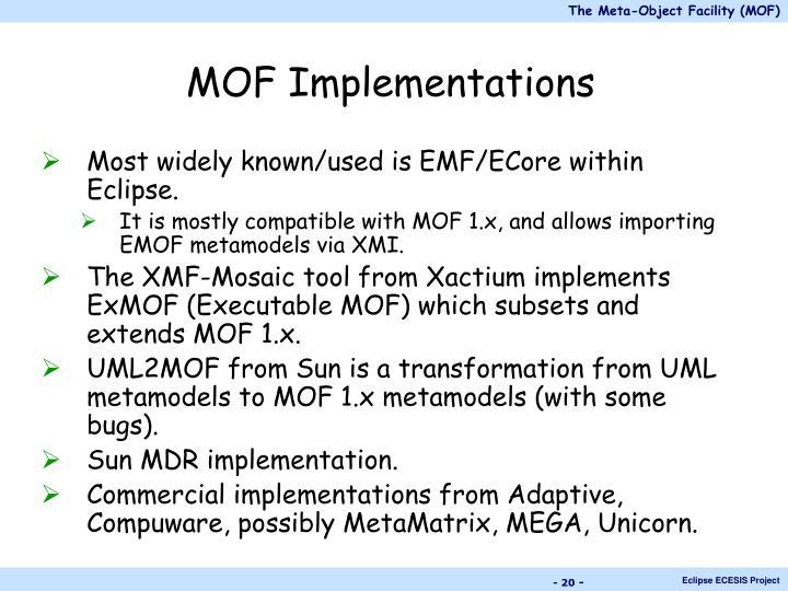 MOF Implementations