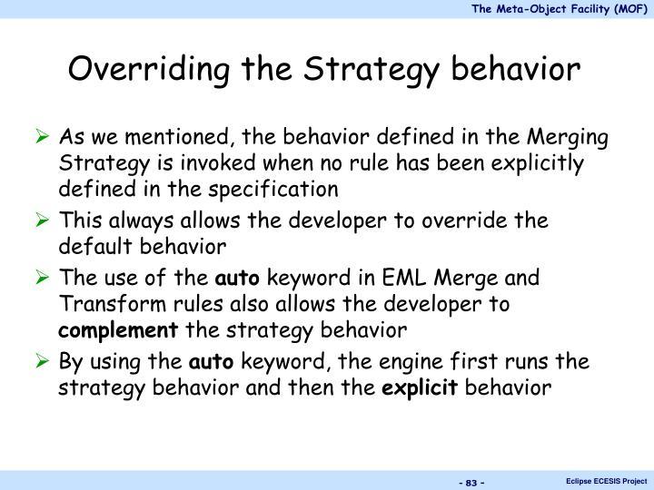 Overriding the Strategy behavior