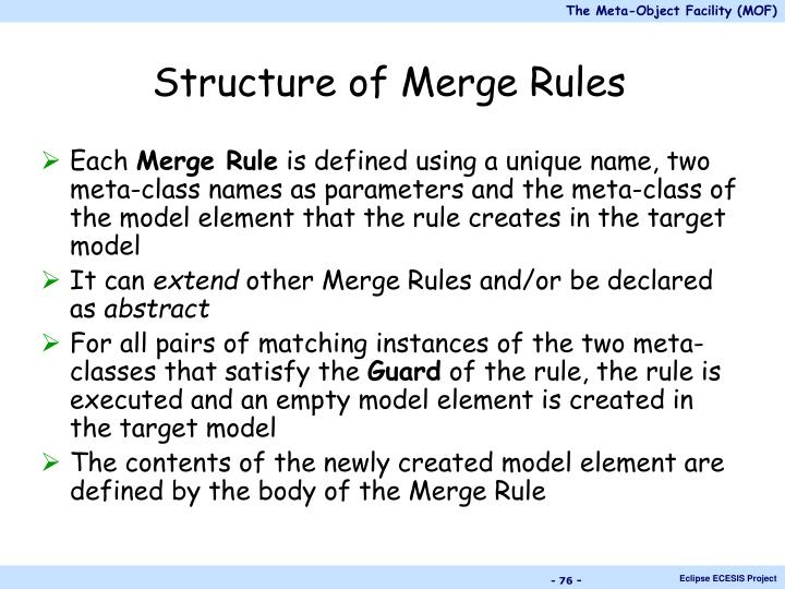 Structure of Merge Rules