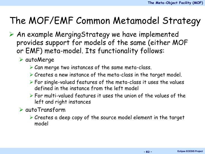 The MOF/EMF Common Metamodel Strategy