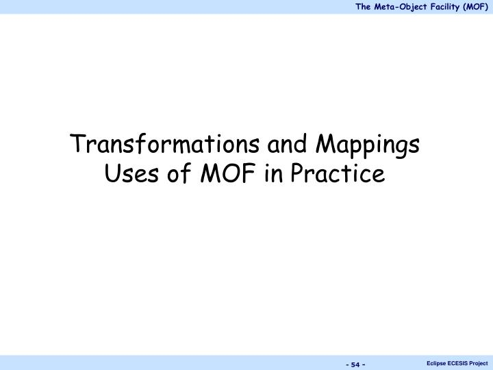 Transformations and Mappings