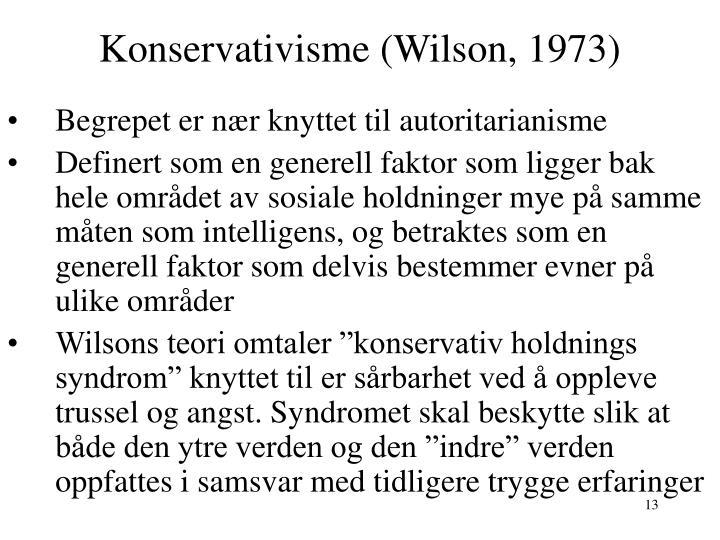 Konservativisme (Wilson, 1973)