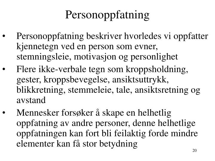 Personoppfatning