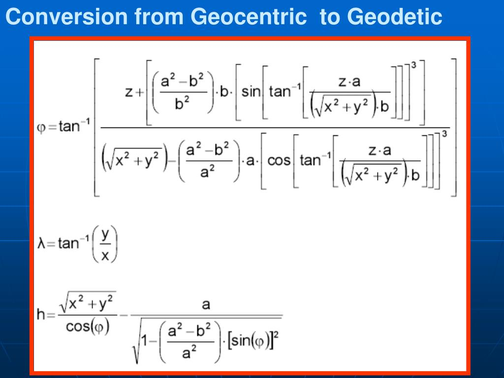 Geodetic Coordinate Systems