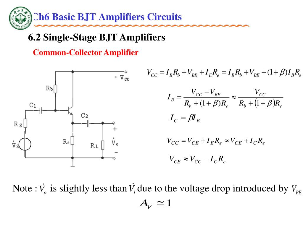 PPT - Ch6 Basic BJT Amplifiers Circuits PowerPoint
