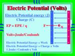 electric potential volts
