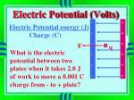electric potential volts1