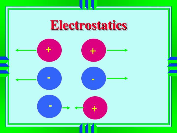 electrostatics n.
