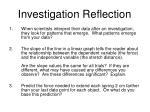 investigation reflection