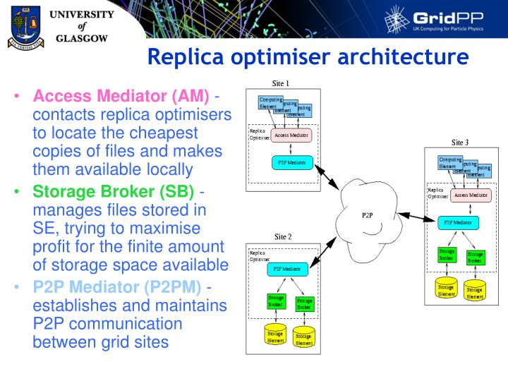 Replica optimiser architecture