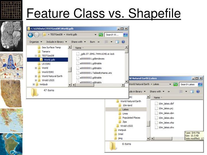 Feature Class vs. Shapefile