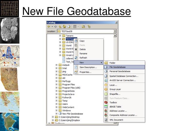 New File Geodatabase