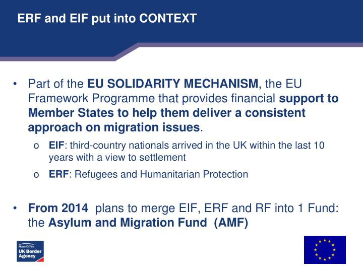 Erf and eif put into context