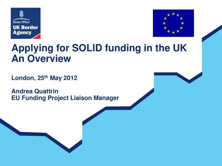 Applying for SOLID funding in the UK