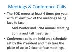 meetings conference calls
