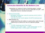commuter benefits the bottom line