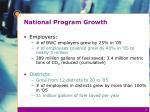 national program growth