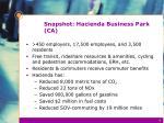 snapshot hacienda business park ca