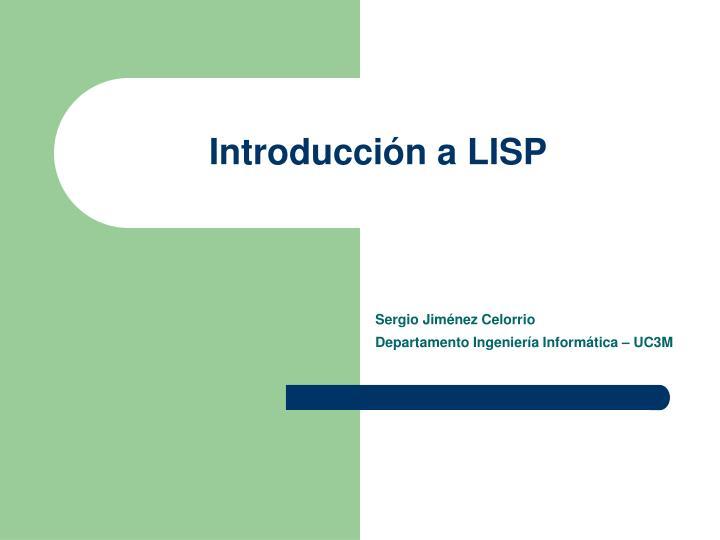 Introducci n a lisp