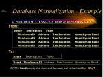 database normalization example2