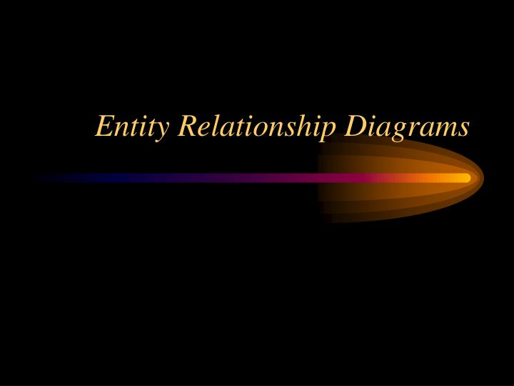 entity relationship diagrams n.