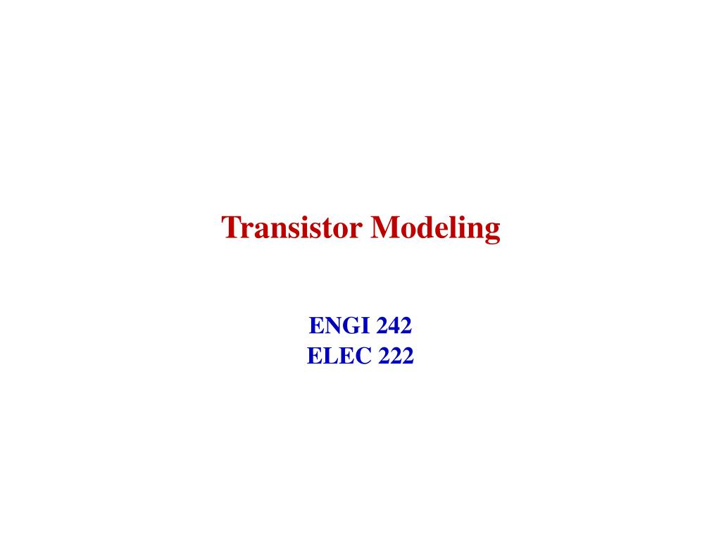Ppt Transistor Modeling Powerpoint Presentation Id3294648 Below Is A Circuit Which We Will Find The Midband Gain For N