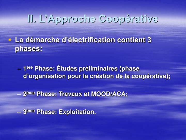 II. L'Approche Coopérative