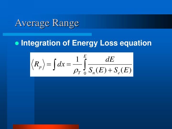 Average Range
