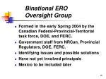binational ero oversight group