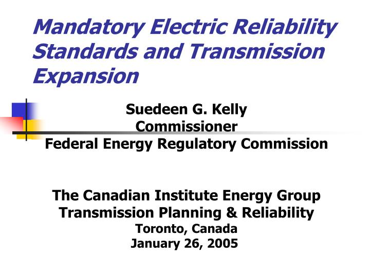 mandatory electric reliability standards and transmission expansion n.