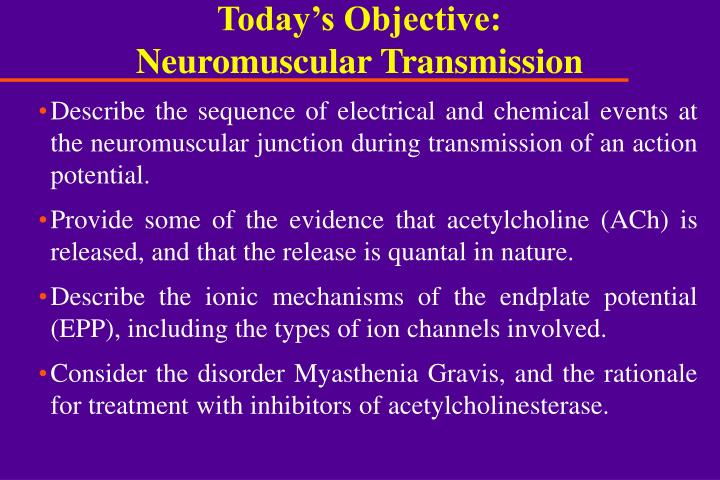 today s objective neuromuscular transmission n.