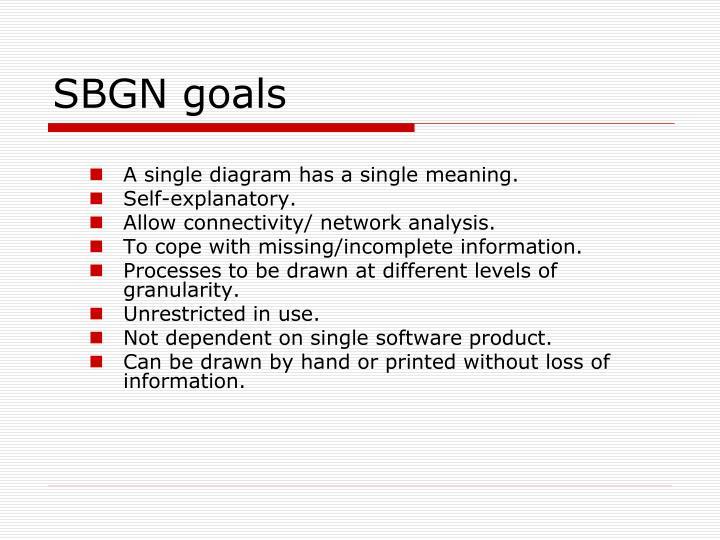 SBGN goals