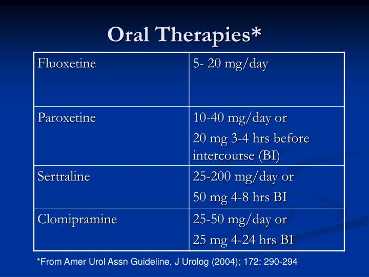 Oral Therapies*