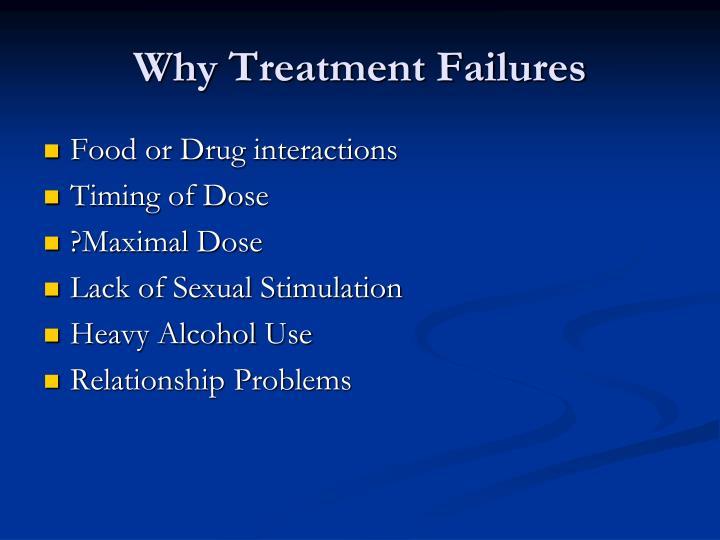 Why Treatment Failures