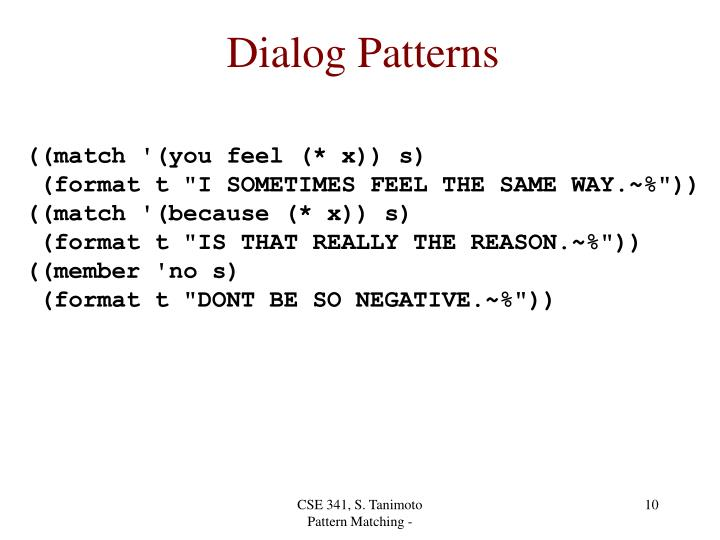 Dialog Patterns