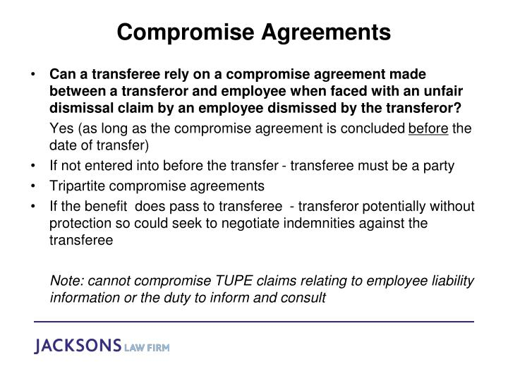 Compromise Agreements