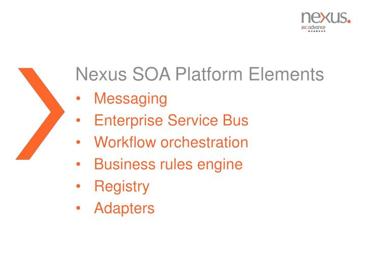 Nexus SOA Platform Elements
