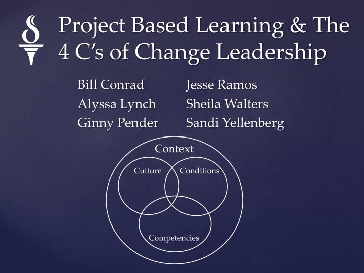 project based learning the 4 c s of change leadership n.