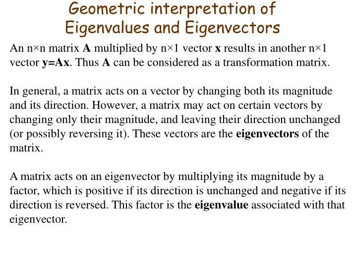 Geometric interpretation of