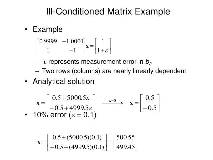 Ill-Conditioned Matrix Example