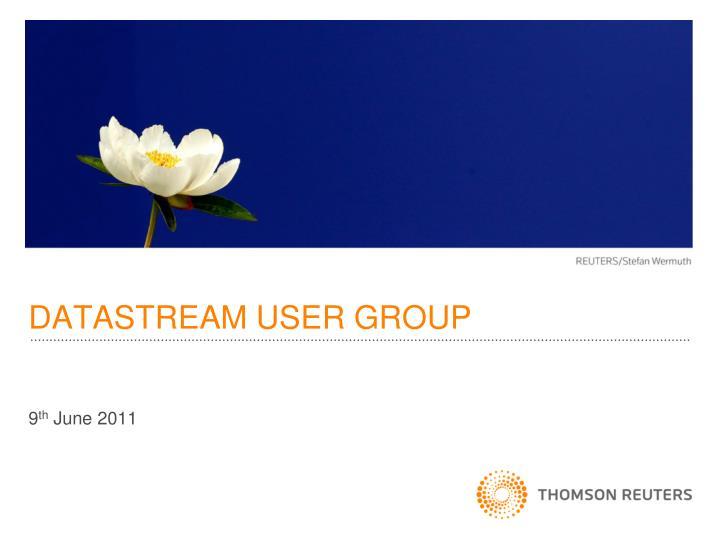 datastream user group n.