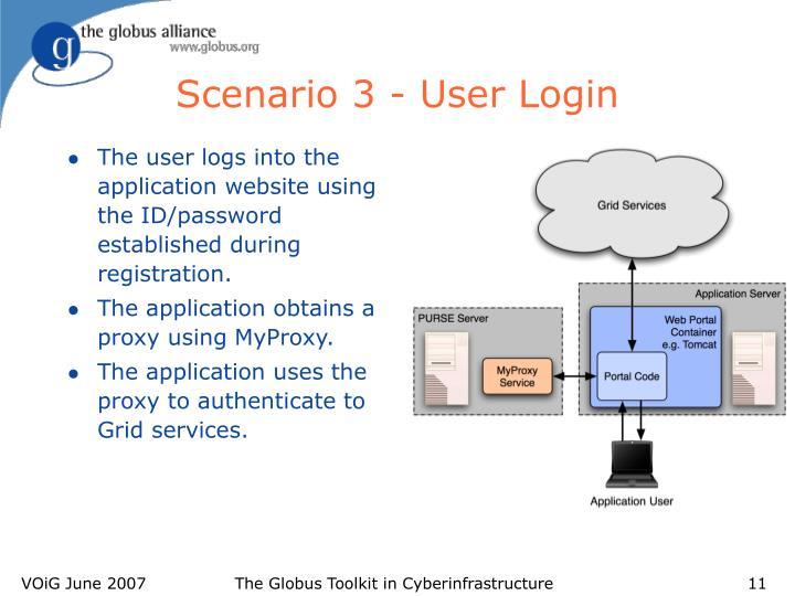 Scenario 3 - User Login