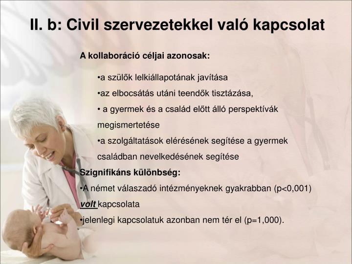 II. b: Civil szervezetekkel való kapcsolat