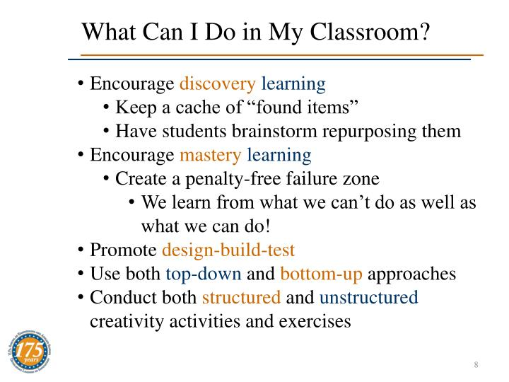 What Can I Do in My Classroom?