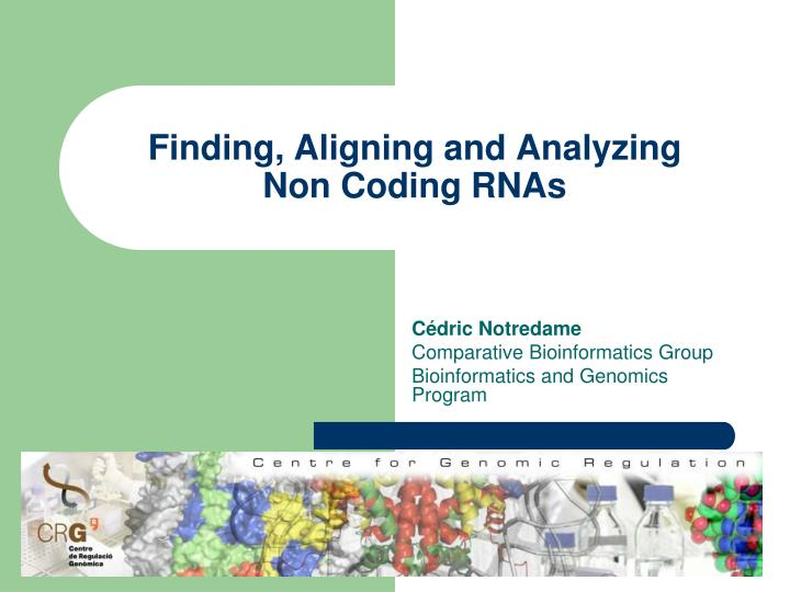 Finding aligning and analyzing non coding rnas