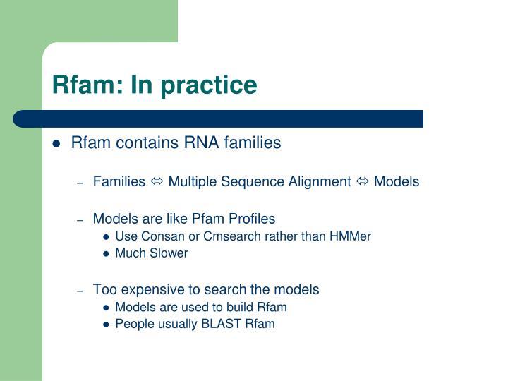 Rfam: In practice