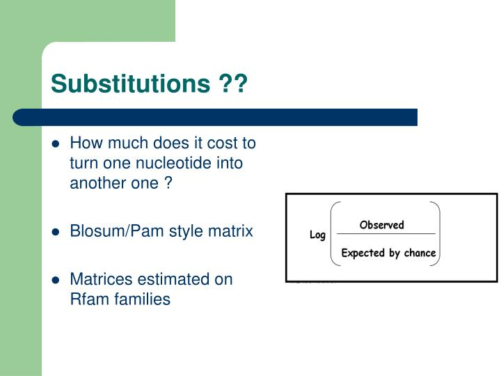 Substitutions ??